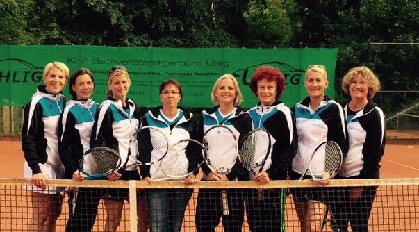 v.l.: Christina König, Imke Voß, Alexa Ostermann, Simone Gaber, Nicola Zadrozny, Lilli Brauer-Predki, Sibille Brambrink und Barbara Rogall