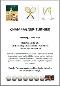Champagner-Turnier (SWAT) @ Halterner TC | Haltern am See | Nordrhein-Westfalen | Deutschland