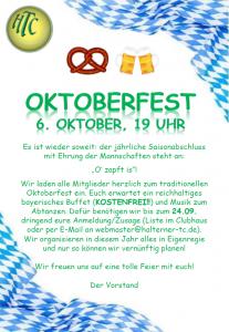 Oktoberfest @ Clubhaus Halterner TC | Haltern am See | Nordrhein-Westfalen | Deutschland