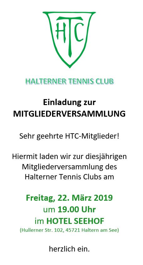 Mitgliederversammlung @ Hotel Seehof | Haltern am See | Nordrhein-Westfalen | Deutschland