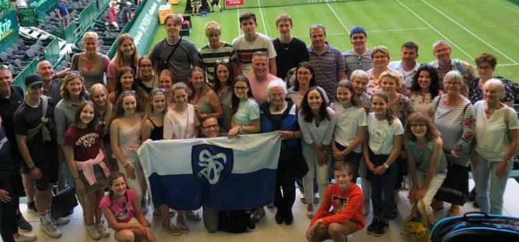 """Drei Tennis-Generationen besuchten die """"Noventi Open"""" in Halle"""