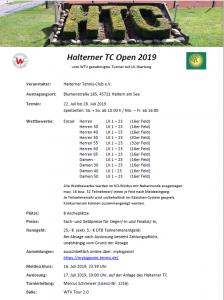 5. Halterner Open 2019 @ Halterner TC | Haltern am See | Nordrhein-Westfalen | Deutschland